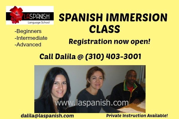 Spanish Immersion Class