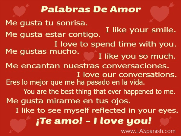 Amor love words